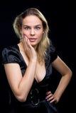 Portrait shot of a beautiful caucasian woman Stock Images