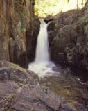 Portrait shot of a waterfall Stock Photo