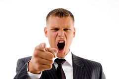 Portrait of shouting businessman Stock Photo