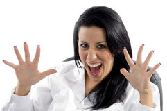 Portrait of  shouting female doctor Stock Photo