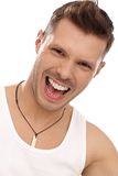 Portrait of shouting young man Royalty Free Stock Images