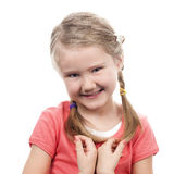 Portrait of shy girl Royalty Free Stock Photos