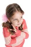 Portrait of a shy preschool girl Stock Image