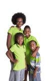 Portrait of 4 siblings Stock Image