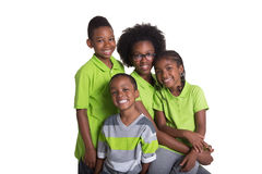 Portrait of 4 siblings Royalty Free Stock Photography