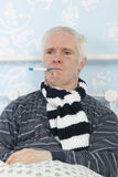 Portrait sick man Royalty Free Stock Photography