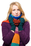 Portrait of a sick woman Stock Image