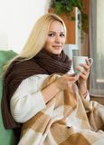 Portrait of sick woman Royalty Free Stock Image