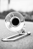 Portrait of a silver Trombone Royalty Free Stock Photo