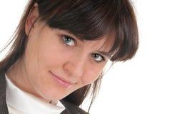 Portrait of a simple girl Stock Photos