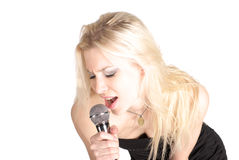 Portrait of singer female Stock Photography