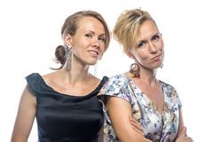 Portrait of sisters in dresses Royalty Free Stock Photography