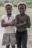 Portrait of 2 sisters of A tribe village, South Africa Stock Images