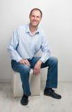 Portrait of  sitting man Stock Images