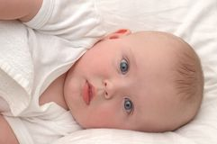 Portrait of a six month old baby Stock Photo