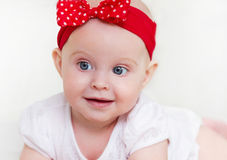 Portrait of the six month old baby indoor Stock Image