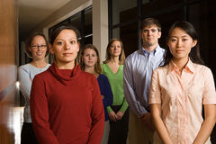 Portrait of six teachers Royalty Free Stock Image