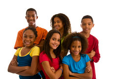 Portrait of six teenagers Royalty Free Stock Images