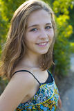 Portrait of the sixteen-year-old girl Royalty Free Stock Image