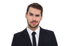 Portrait of a skeptical businessman well dressed Royalty Free Stock Photos