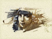 Portrait sketch Royalty Free Stock Photos