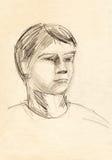 Portrait sketch Stock Images