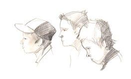 Portrait sketch Stock Photo