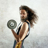 Portrait of a skinny bodybuilder Stock Photography