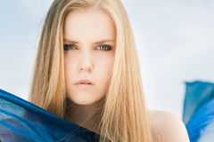 Portrait in sky Stock Photography