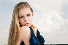 Portrait in sky Royalty Free Stock Images