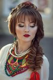 Portrait of a Slavic woman Royalty Free Stock Images