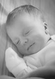 Portrait of sleeping baby Stock Images
