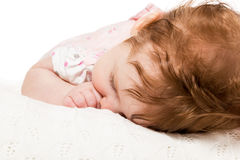 Portrait sleeping baby Royalty Free Stock Photography