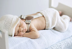 Portrait of a sleeping baby Stock Photo