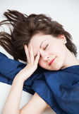 Portrait of a sleeping  beautiful girl Stock Photography