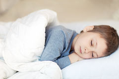 Portrait of sleeping boy Royalty Free Stock Photos