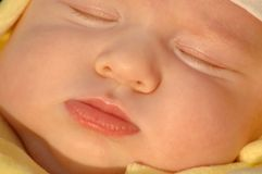 Portrait sleeping child. Portrait of the sleeping child Stock Photography