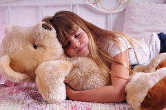 Portrait of sleeping girl Stock Photography