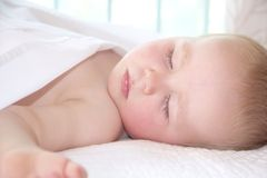 Portrait of sleeping little boy Stock Photos