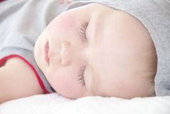 Portrait of sleeping little boy Stock Photo