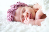 Portrait of  sleeping newborn baby Royalty Free Stock Images