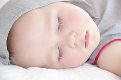 Portrait of sleeping one year old boy Royalty Free Stock Image