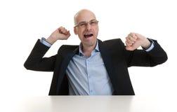 Portrait of sleepy businessman yawning Royalty Free Stock Photo