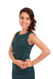 Portrait of sliming young woman Royalty Free Stock Photography