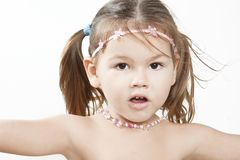 Portrait of small asian sweet girl Royalty Free Stock Photo
