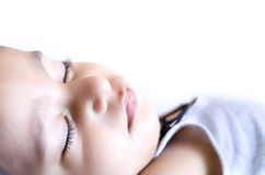 portrait of small baby child sleeping Royalty Free Stock Image