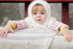 Portrait of the small beautiful girl Royalty Free Stock Photography