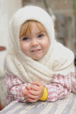 Portrait of the small beautiful girl Stock Photography