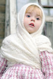 Portrait of the small beautiful girl Stock Photo