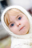Portrait of the small beautiful girl Royalty Free Stock Images